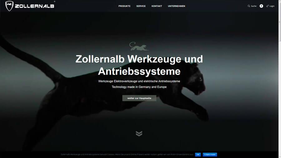 Zollernalb Werkzeuge und Antriebssysteme Webseite DE